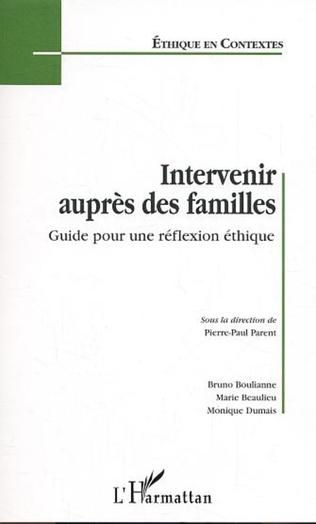 Couverture Intervenir auprès des familles
