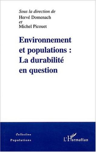 Couverture Environnement et populations