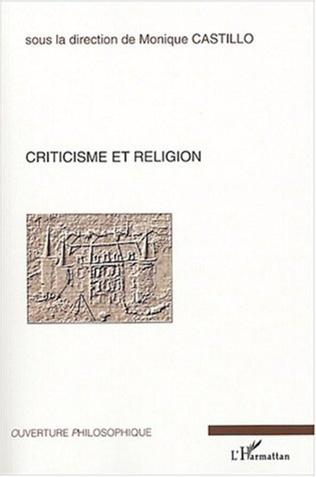 Couverture Criticisme et religion
