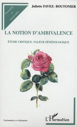 Couverture La notion d'ambivalence
