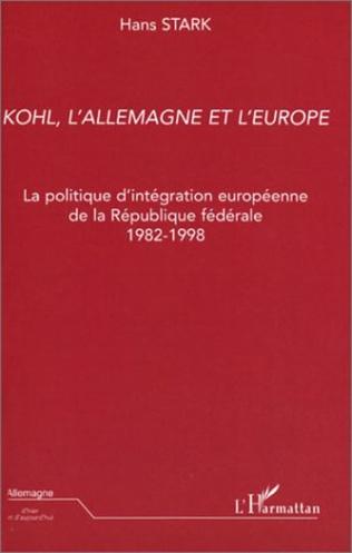 Couverture Kohl, l'Allemagne et l'Europe