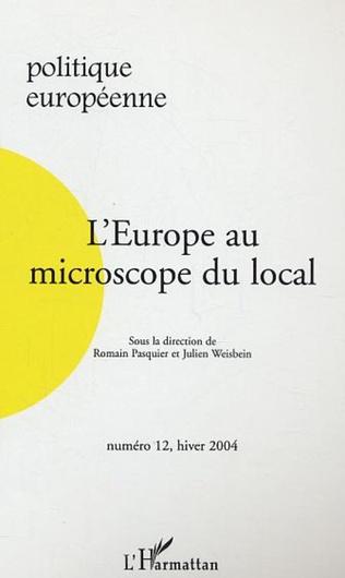 Couverture L'Europe au microscope du local