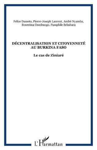 Couverture Décentralisation et citoyenneté au Burkina Faso
