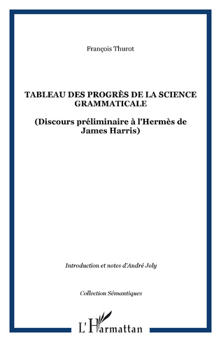 Couverture Tableau des progrès de la science grammaticale