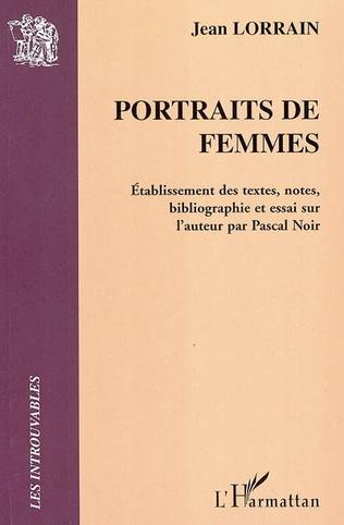 Couverture Portraits de femmes