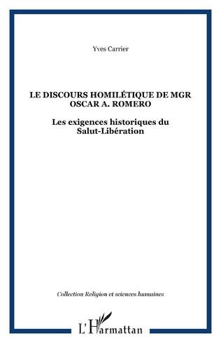 Couverture Le discours homilétique de Mgr Oscar A. Romero