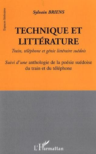 Couverture Technique et littérature