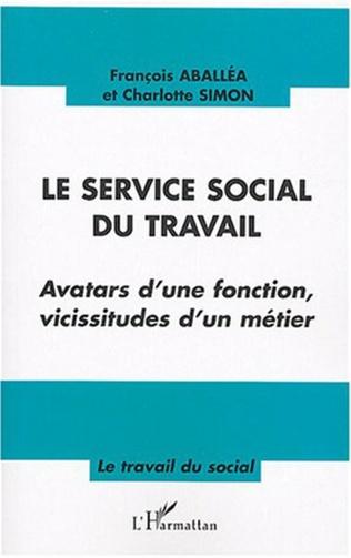 Couverture Le service social du travail