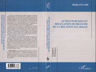 Couverture Action publique et régulation de branche de la relation salariale