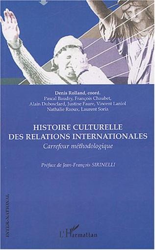 Couverture Histoire culturelle des relations internationales