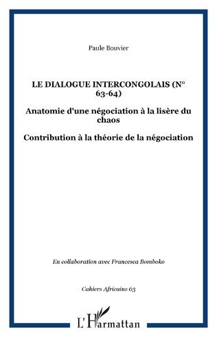 Couverture Le dialogue intercongolais (n° 63-64)