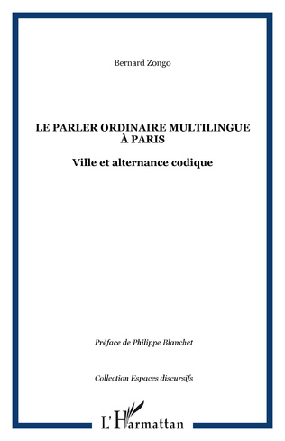 Couverture Le parler ordinaire multilingue à Paris