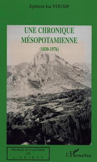 Couverture Une chronique mésopotamienne (1830-1976)