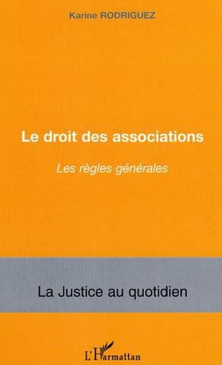 Couverture Le droit des associations