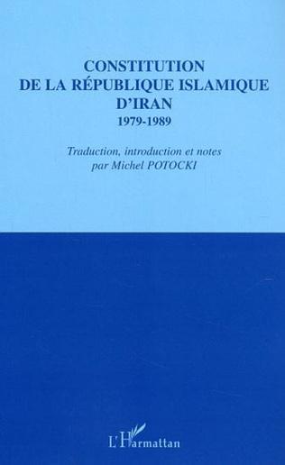 Couverture Constitution de la République islamique d'Iran 1979-1989