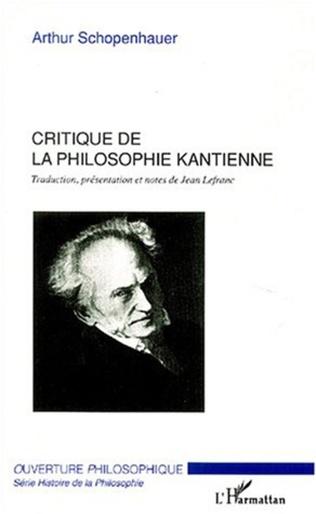 Couverture Critique de la philosophie kantienne