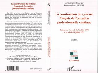 Couverture La construction du système français de formation professionnelle continue