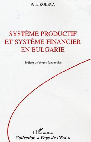 Couverture Système productif et système financier en Bulgarie