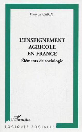Couverture L'enseignement agricole en France