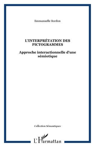 Couverture L'interprétation des pictogrammes