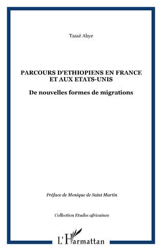 Couverture Parcours d'Éthiopiens en France et aux États-Unis