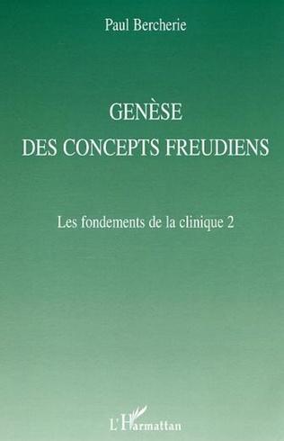 Couverture Genèse des concepts freudiens