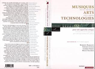 Couverture Musiques Arts Technologies / Music Arts Technologies / Mùsicas Artes Tecnologias
