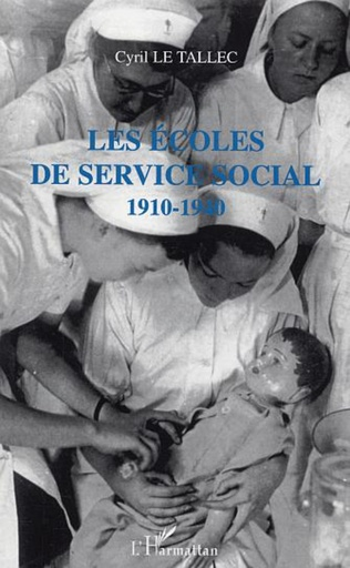 Couverture Les écoles de service social