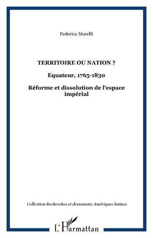 Couverture Territoire ou nation ?