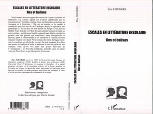 Couverture Escales en littérature insulaire