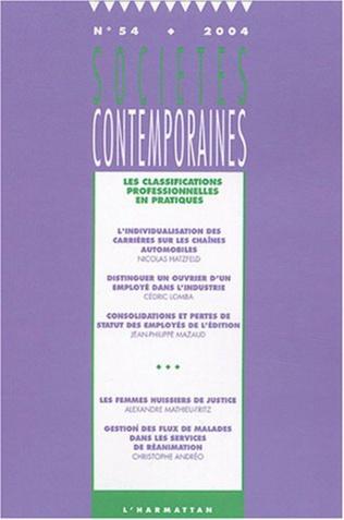 Couverture Les classifications professionnelles en pratiques