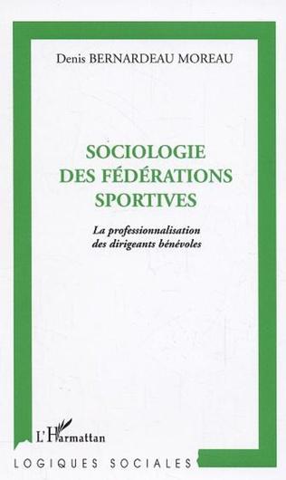Couverture Sociologie des fédérations sportives