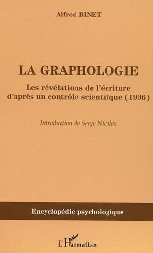Couverture La graphologie