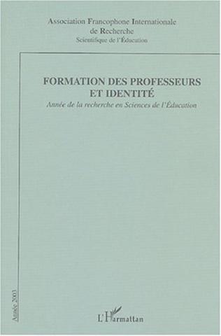 Couverture Formation des professeurs et identité