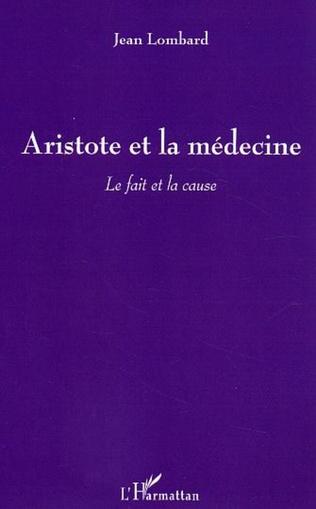 Couverture Aristote et la médecine