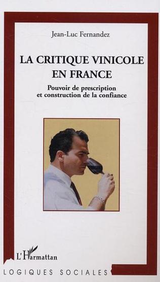 Couverture La critique vinicole en France
