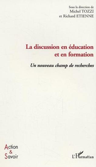 Couverture La discussion en éducation et en formation