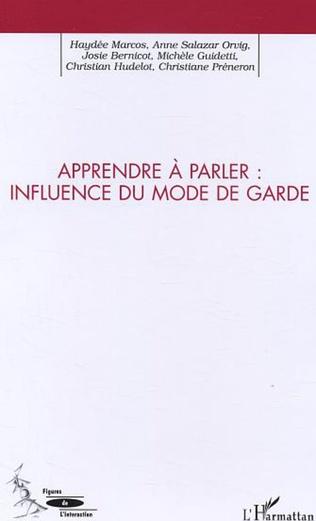 Couverture APPORTS DE L'ADULTE A L'ACQUISITION DU LANGAGE