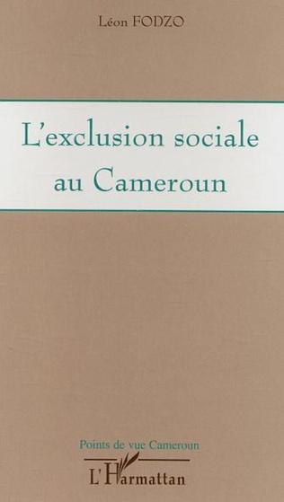 Couverture L'exclusion sociale au Cameroun