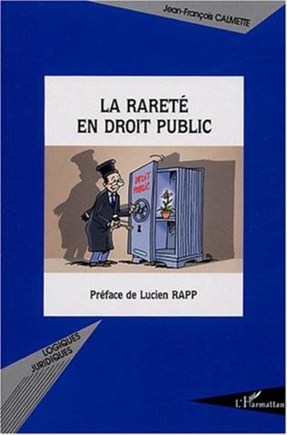 Couverture La rareté en droit public