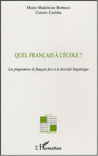 Couverture Quel français à l'école ?