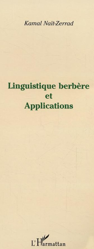 Couverture Linguistique berbère et Applications