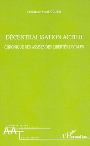 Couverture Décentralisation Acte II