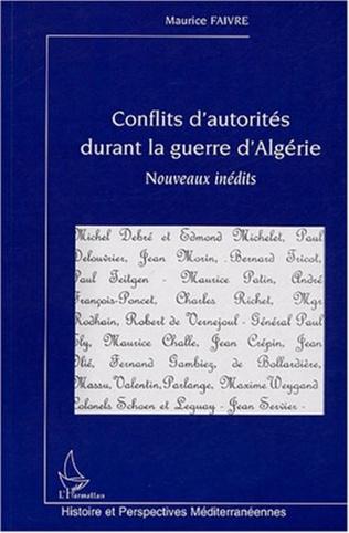 Couverture Conflits d'autorités durant la guerre d'Algérie