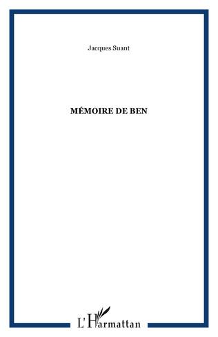 Couverture Mémoire de Ben
