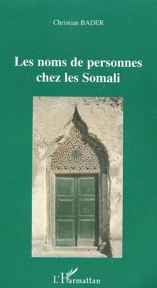 Couverture Les noms de personnes chez les Somali