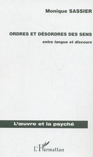 Couverture ORDRES ET DESORDRES DES SENS