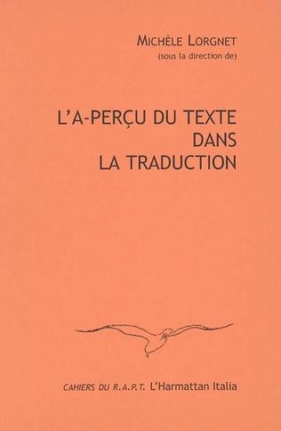 Couverture L'A-perçu du texte dans la traduction