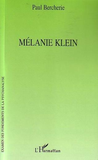 Couverture Mélanie Klein