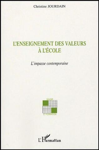 Couverture L'enseignement des valeurs à l'école